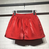 List Price Cool Cool Korean Style Solid Color Female Spring And Autumn Loose Wide Leg Pants Shorts Red Red Oem