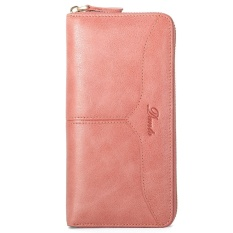 Italian 100 Genuine Cow Leather Women Clutch Wallet Casual Coin Holders Travel Pouches Pink Intl Best Buy