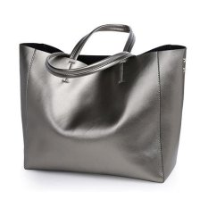 Where To Shop For Italian Womens Tote Bags 100 Genuine Cowhide Leather Fashionable Shoulder Lady Bags Handbags For Travel Silver Intl