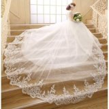 Price Ivory Long Train Bridal Gowns V Neck Lace Wedding Dresses Intl On China