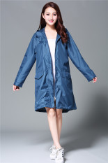 Purchase Japan And South Korea *d*lt Women S Windbreaker Style Raincoat Poncho 1003 Blue And Green 1003 Blue And Green