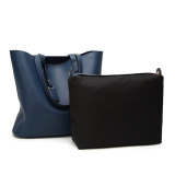 Korean Style One Shoulder Large Bag Women S Bag Dark Blue Lower Price