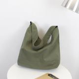 Cheap Women S Simple Shopping Bag Army Green