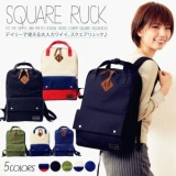 Japan Crosscharm Thick Canvas Backpack Solid Color Student Bag Women Backpack Black Intl In Stock