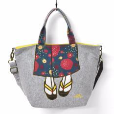 Where To Shop For Japan Mis Zapatos Kimono Foot Pattern Mini Shoulder Bag B 6463 Grey Color