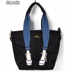 Japan Mis Zapatos Nylon Skinny Tote Bag Black Color Shopping