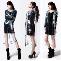 Where Can You Buy Fashion Transparent Men Women Poncho Raincoat Fluorescent Green Short Fluorescent Green Short