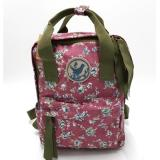 Buy Japanese Floral Prints Cotton Fabric Waterproof Nylon Backpack Teenagers Casual Bags Five