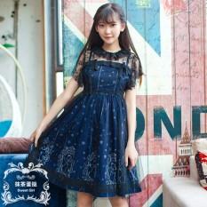 Latest Angel Japanese Style Summer Soft Dark Dress