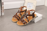 Where Can I Buy Women S Japanese Style Retro Flat Sandal Deep Brown