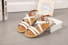 Wholesale Women S Japanese Style Retro Flat Sandal White