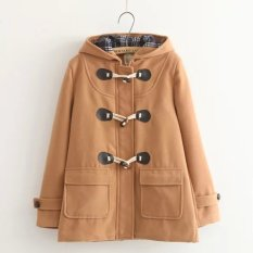 Sale Japanese Style Horn Buckle Double Buckle Wool Coat Orange Color Oem On China
