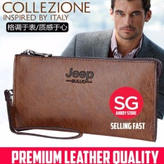 Jeep Buluo Khaki Professional Men New Fashion Leather Hand Bag Wallet Review