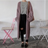 Price Compare Women S Korean Edge Curl Knitted Long Sleeves Midi Sweater Aubergine Aubergine