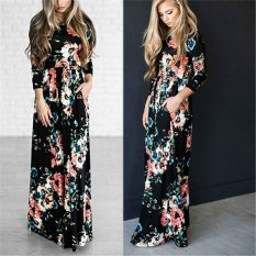 Coupon Jiayiqi Classic Dress Women S Long Sleeve Retro Noble Floral Embroidery Dress Intl