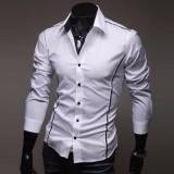 Where Can I Buy Jiayiqi Luxury Men S Casual Perfect Slim Flanger Men S Long Sleeve Dress Shirt Intl