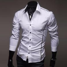 Sale Jiayiqi Luxury Men S Casual Perfect Slim Flanger Men S Long Sleeve Dress Shirt Intl Jiayiqi Branded