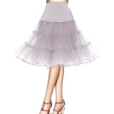 Recent Jiayiqi Women Fashion Crystal Yarn Petticoat Pleated Skirts Rockabilly Tutu Intl