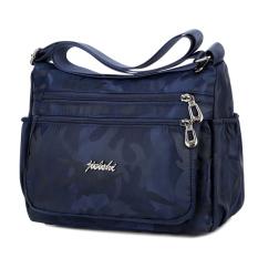 For Sale Jie Long Shi Anti Splash Water Oxford Cloth Shoulder Cross Bag Minimalist Female Cloth Hit Color Nylon Handbag Multi Compartment Messenger Bag Dark Blue Color