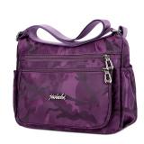 Sale Jie Long Shi Anti Splash Water Oxford Cloth Shoulder Cross Bag Minimalist Female Cloth Hit Color Nylon Handbag Multi Compartment Messenger Bag Purple