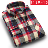 Sale Jihaye Men S 100 Cotton Plaid Shirt 1129 10 1129 10 Oem Online