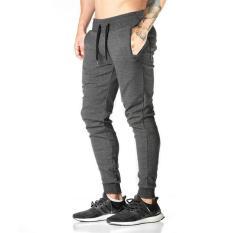 Retail Jirouxiongdi Men Spring Summer Thin Pants Dark Gray Color