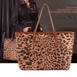 Buy Jo In Leopard Grain Print Pu Leather Women Handbag Tote Bag Shoulder Bag Purse Oem Cheap