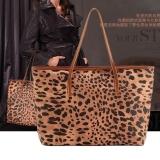 Jo In Leopard Grain Print Pu Leather Women Handbag Tote Bag Shoulder Bag Purse Coupon