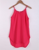 Where To Shop For Jo In New Fashion Women S*xy Casual Round Neck Sleeveless Irregular Solid A Line Short Dress S Xl Rose Red Intl