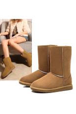 Best Buy Jo In Unisex Winter Warm Snow Half Boots Shoes 6 Colors Khaki