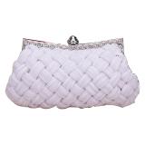 Discount Jo In Women S Evening Bag Shining Rhinestone Handbag Shoulder Bag Clutch Bag With Chain White China