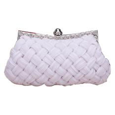 Buying Jo In Women S Evening Bag Shining Rhinestone Handbag Shoulder Bag Clutch Bag With Chain White