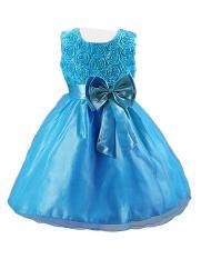 Jo In 4 Color Christmas Wedding Bridal Bridesmaid Organza Kids 3D Rose Flower G*Rl Dress Intl Shopping