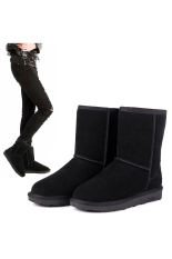 Compare Price Jo In Unisex Winter Warm Snow Half Boots Shoes 6 Colors Black Oem On China