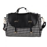 Buy Jo In Women Fleece Handbag Satchel Hasp Closure Party Business Medium Shoulder Bag Black Online China