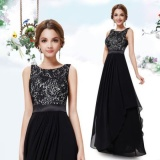 Purchase Jojo 2016 S*xy Women Casual Chiffon Dress Evening Long Dress Dress Black Intl Online