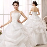 Discount Jojo Leondo Bridal Dress Floor Length Organza Lace Wedding Gowns Ivory Intl China
