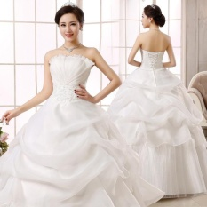 Cheapest Jojo Leondo Bridal Dress Floor Length Organza Lace Wedding Gowns Ivory Intl