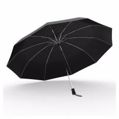 Top 10 Jojo Windproof Compact Travel Umbrella Foldable Fiberglass Frame Largecanopy Auto Open Umbrella For Men Women Black Intl
