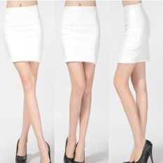 Discount Jojo Women S*Xy Ol Business Work Pu Leatherhip Wrap Mini Skirt White Intl Oem