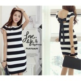 Best Offer Jojo Womens Slim Fit Striped Bodycon Mini Dress Plus Size S 2Xl Intl