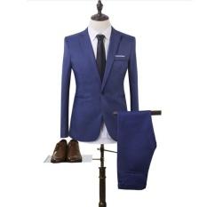 Joy Korea Korean Fashion Business Suit Two Piece Suit Blue Intl Cheap