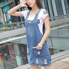 Buy Joy Korea Korean Fashion Fashion Jeans Suspender Skirt Blue Intl Oem