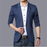 Where To Shop For Joy Korea Korean Fashion Men S Casual Suit Coat Blue Intl