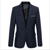Cheapest Joy Korea Korean Fashion Men S Casual Suits Coat Navy Blue Intl Online