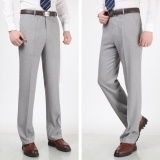 Get The Best Price For Joy Korea Korean Fashion Men S Straight Office Suit Pants Light Grey Intl