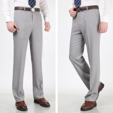 Joy Korea Korean Fashion Men S Straight Office Suit Pants Light Grey Intl On China
