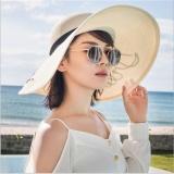 Joy Korea Korean Fashion Straw Hat Beach Folding Sun Hat White Intl Free Shipping