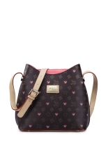 Buying Just Star High Quality Faux Leather Messenger Sling Cross Body Shoulder Bag Love Heart Stars Colorful Pink
