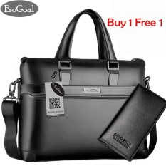 Jvgood Mens Leather Briefcase Laptop Handbag Messenger Business Bags With Leather Wallet By Jvgood.